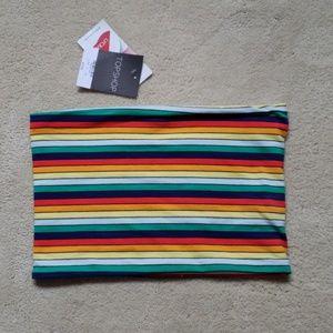 Topshop Multicolored Tube Top